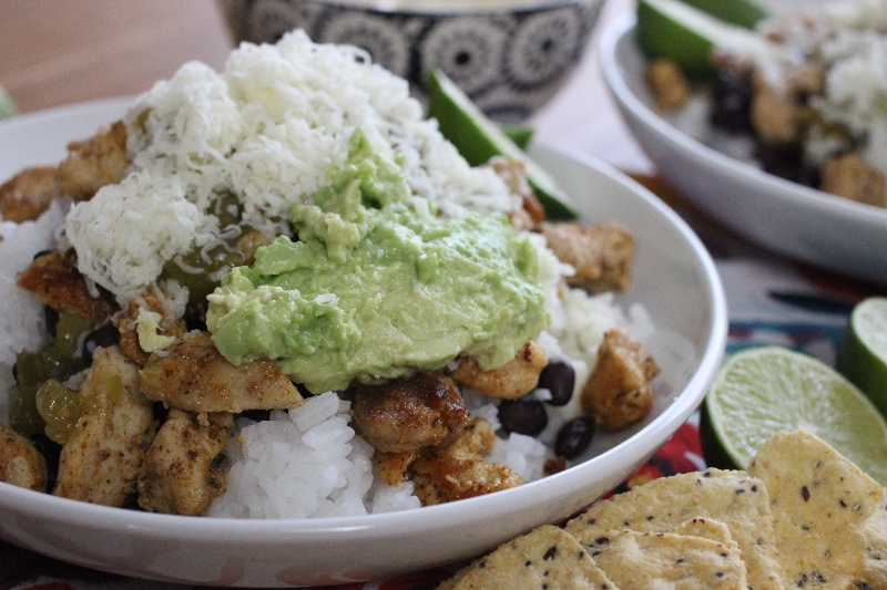 homemade chipotle bowl