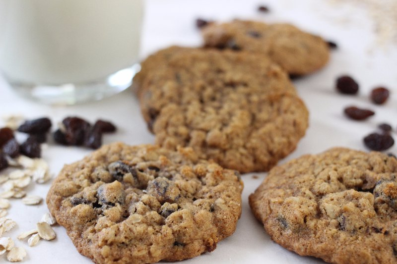 clean eating honey oatmeal cookies