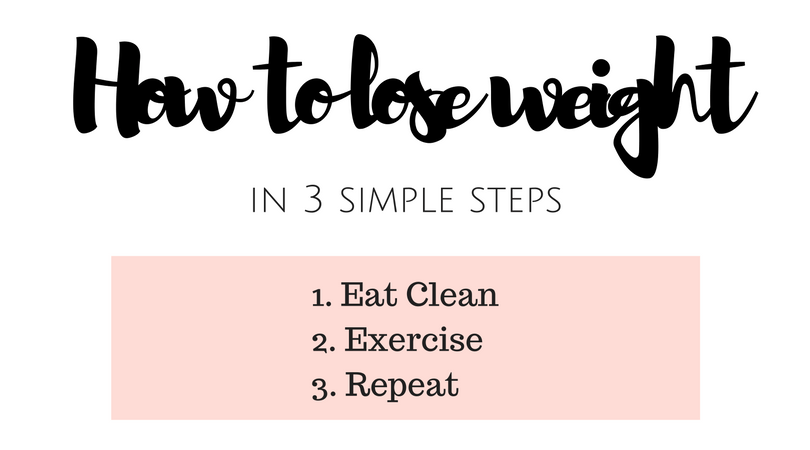 how to lose weight in 3 simple steps