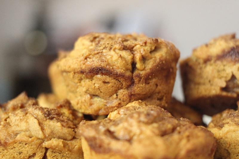 sweet potato pecan muffins