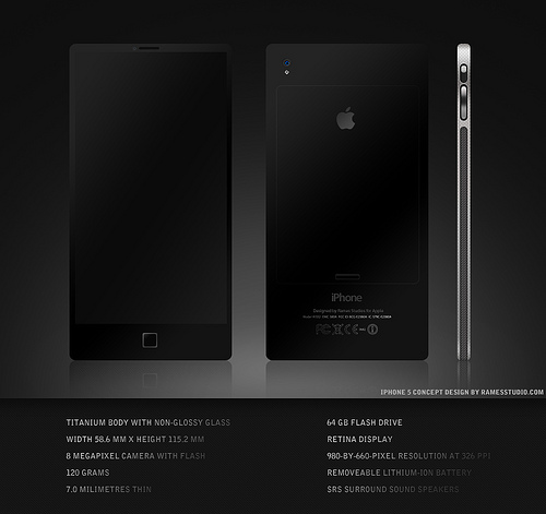 iPhone 5 Design Mockup - Rames Studios