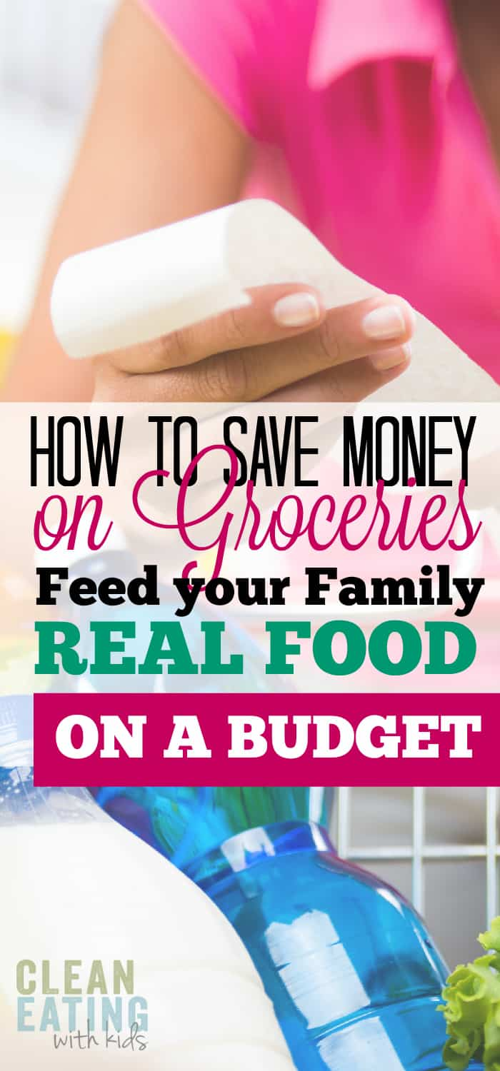 Save Money on Grocery Shopping for Clean Eating Families.