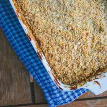 clean eating apple crumble