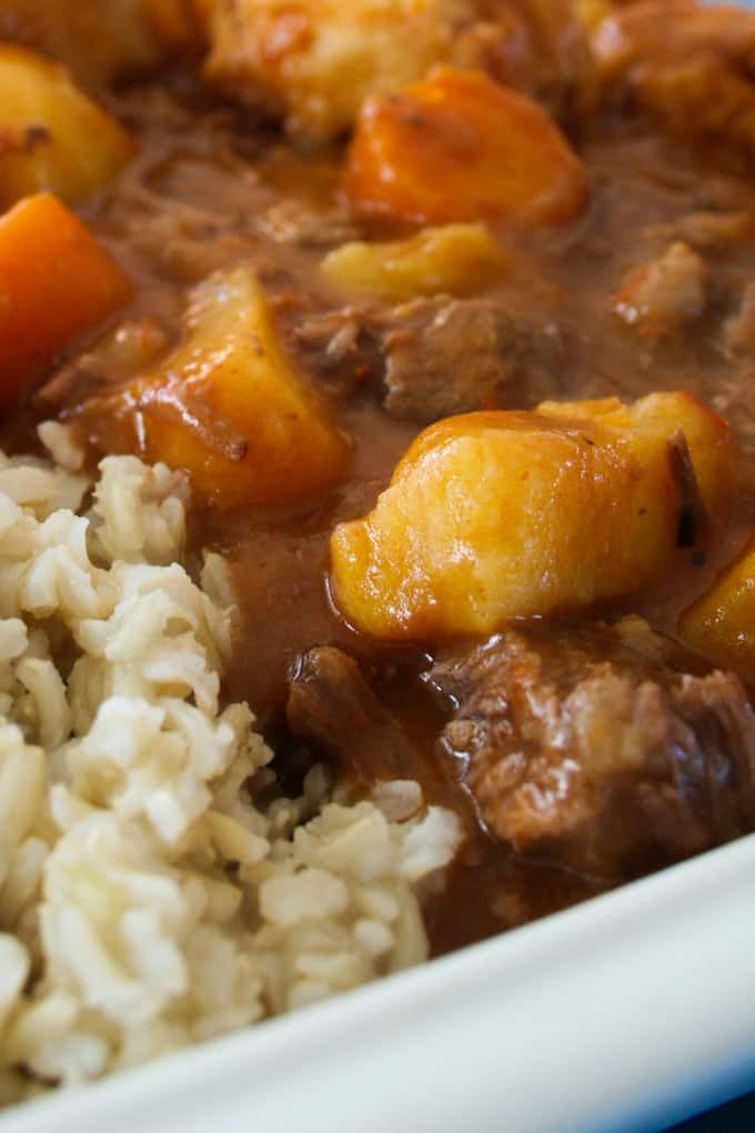 Easy Slow Cooker Beef Stew With Sticky Dumplings Clean Eating With Kids