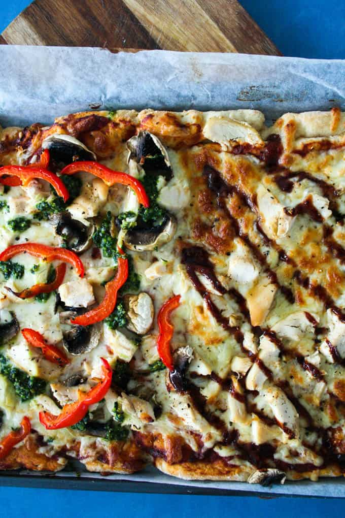 Clean Eating half and half pizza-7