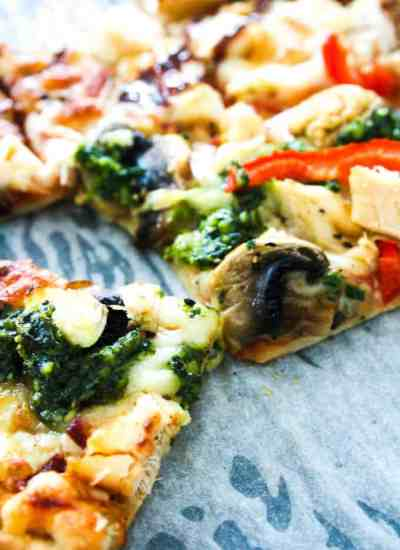 Clean Eating half and half pizza-18