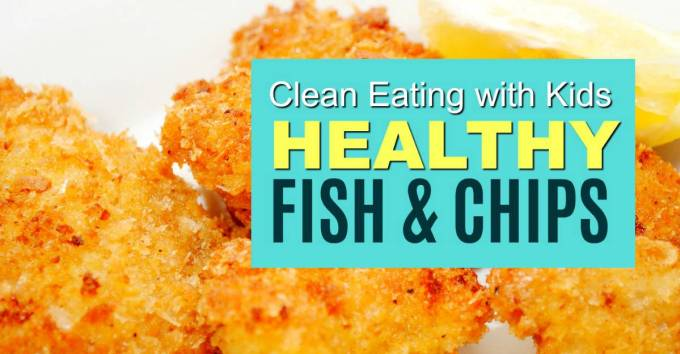 healthy golden and crispy clean eating fish nuggets