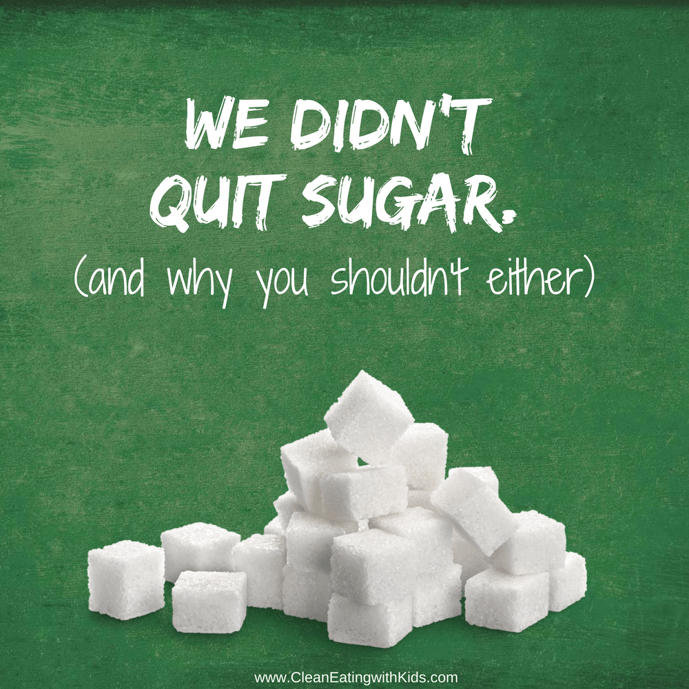 Why you shouldnt quit sugar