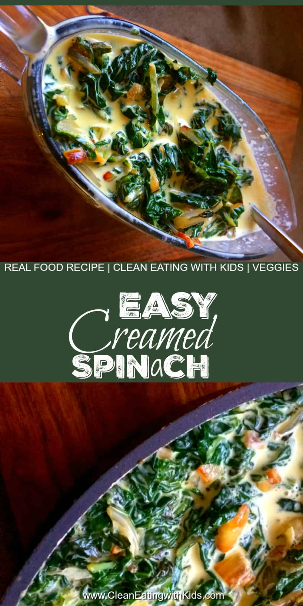 Cannot believe that my kids loved this!! Best Creamed Spinach recipe ever.