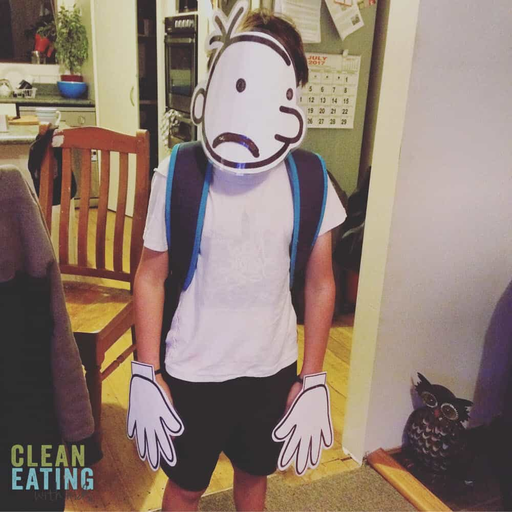 Super Easy Book Week Costume - Diary of a Wimpy Kid