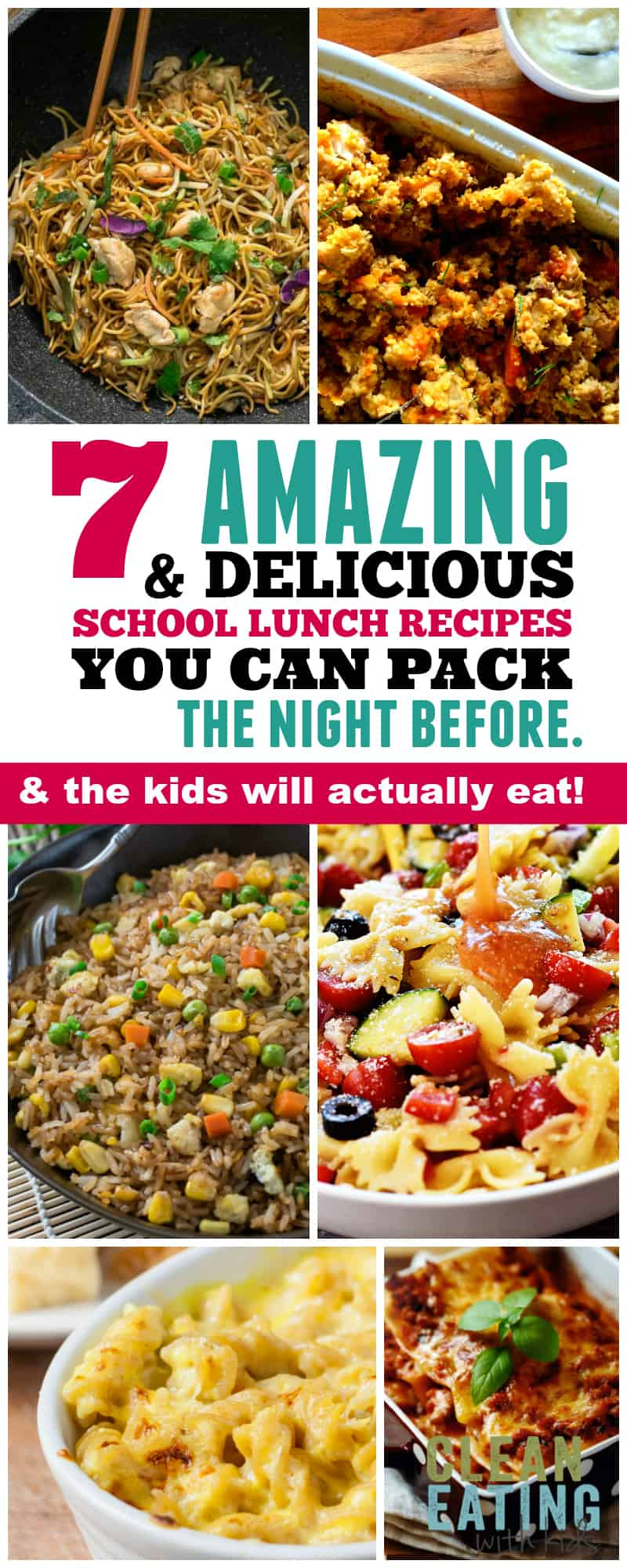 Want To Pack A Lunch Your Kid Will Actually Eat? These Back To School Lunch Ideas that you can pack the night before!