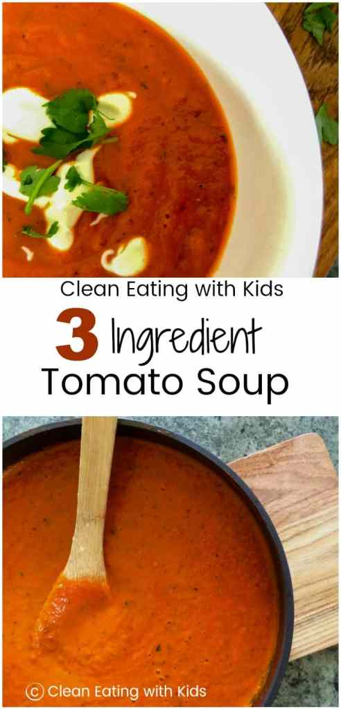 It's hard to believe that this delicious hearty tomato soup is made from only three ingredients!
