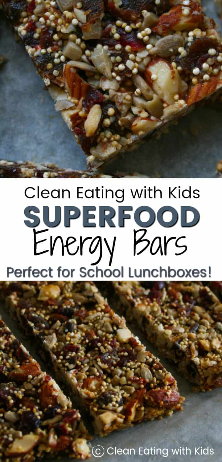 These Superfood Energy bars are full of all the good stuff: Nuts, Seeds and they are Sugar free. The secret ingredient is what makes them sticky and sweet. Want to know what that secret ingredient is?