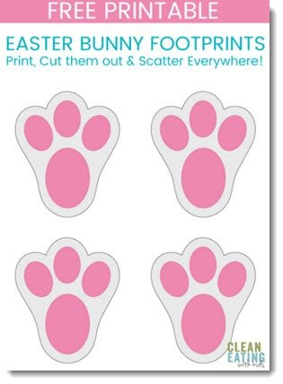 Delight your child this Easter Morning. FREE PRINTABLE: Easter Bunny Footprints