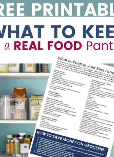 What to keep in a real food pantry