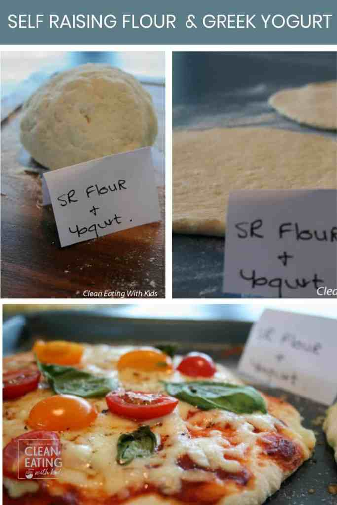 two ingredient pizza dough with SR flour and yogurt