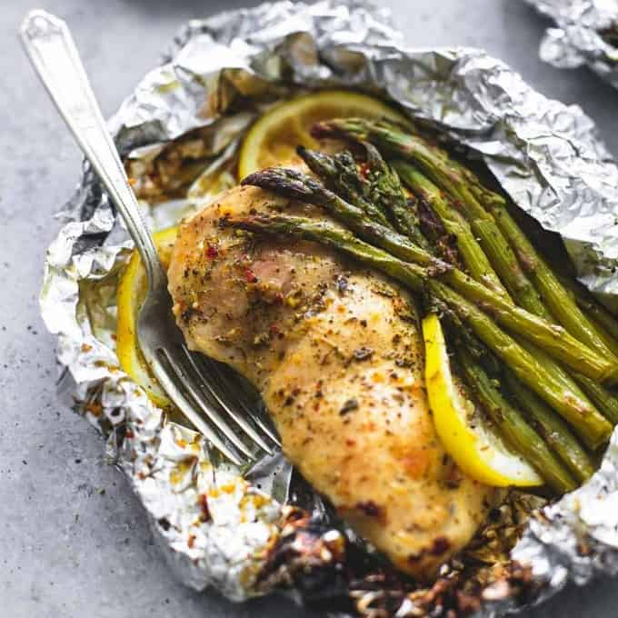 I'm obsessed with these foil packet recipes! You can prep them before going to camp and then just pop them on the grill for dinner! So so so Easy!!