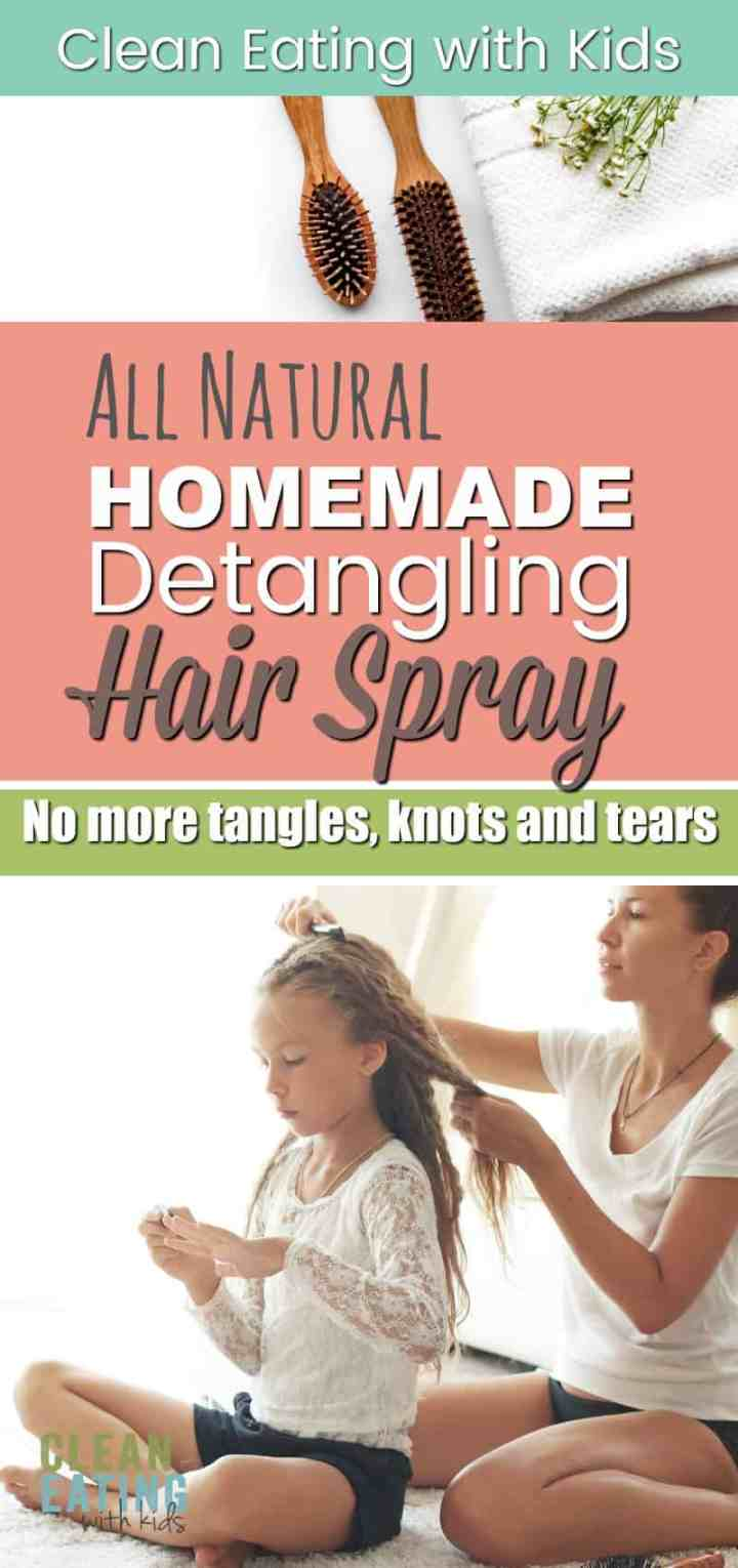 Homemade Hair Detangling Spray - Works like magic on knotty, flyaway morning hair (Stops all the fighting too)