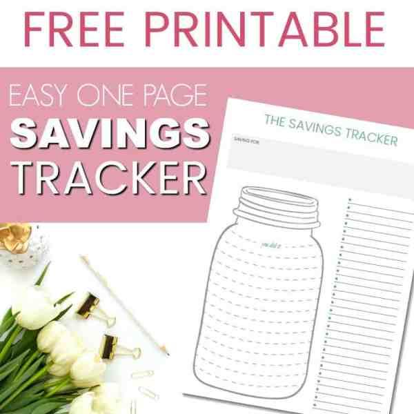 free printable savings tracker 800x800