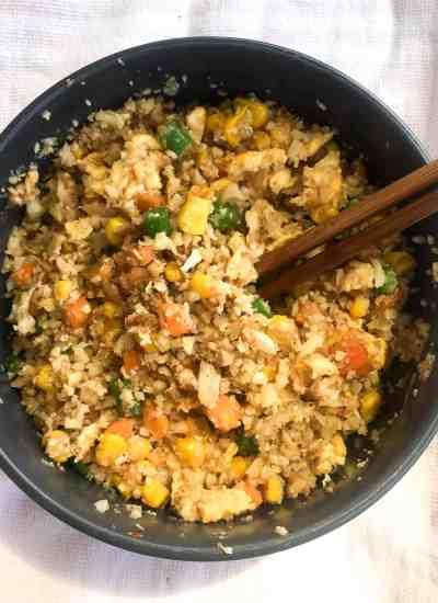 clean eating cauliflower fried rice