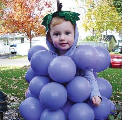 last minute halloween costume - grape