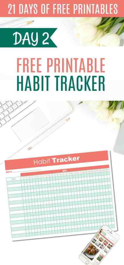 DAY 2 of the 21 Days of Free Printables Series: 31 Day Habit Tracker