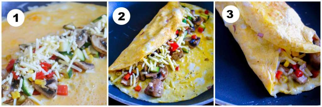 How to Make a Basic Egg and Cheese Omelette PLUS my burrito style folding hack to stop it breaking.