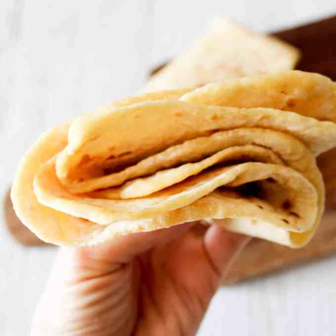 clean eating two ingredient soft tortilla