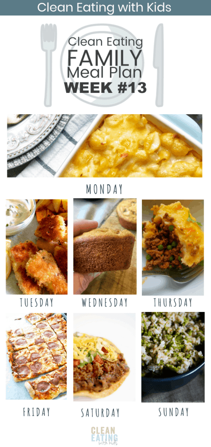 Clean Eating Family Meal Plan #13