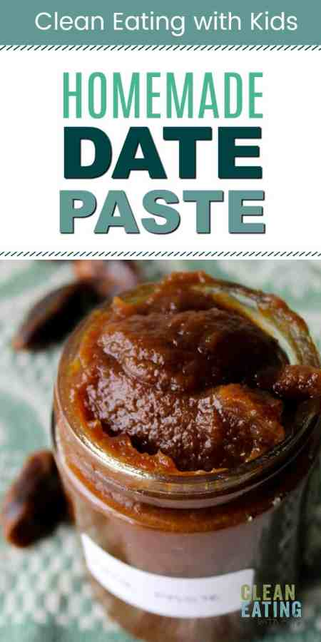 clean eating homemade date paste / date puree