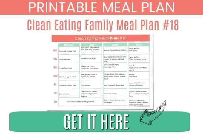 Clean Eating meal plan #18