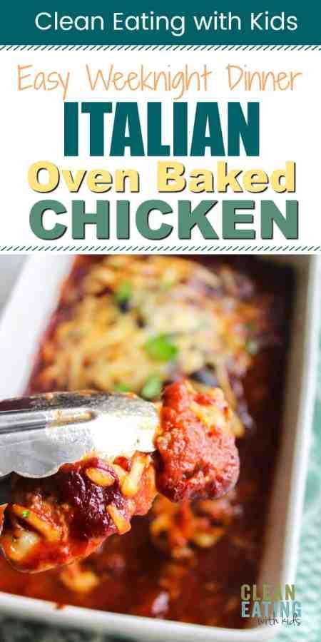 oven baked italian chicken dinner