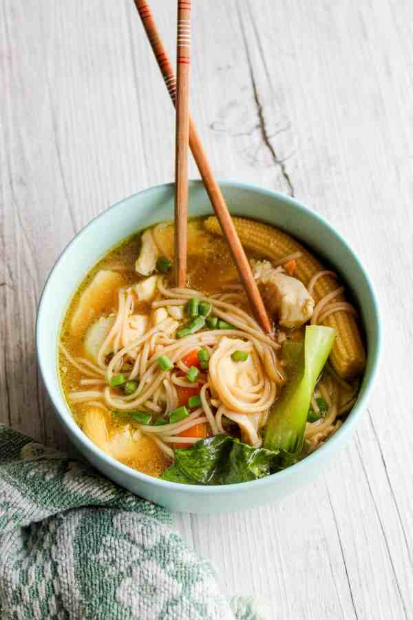 Clean Eating Asian Chicken Noodle Soup
