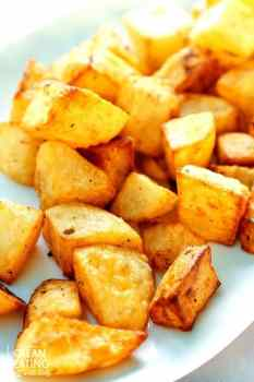 clean eating vegetable side - crispy roast potato side