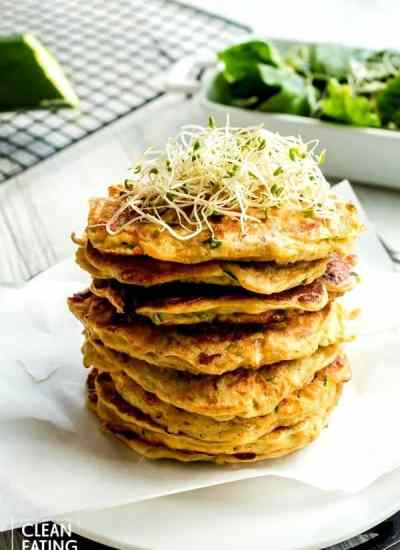 clean eating zucchini fritters - main pic