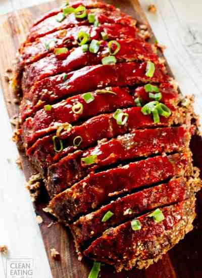 Clean Eating Meatloaf {Family Size}