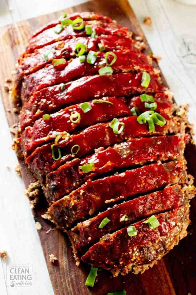 clean eating meatloaf - family sized version