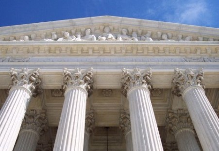 the entrance to the supreme court