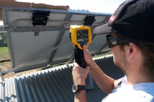 thermal imaging camera on PV panels