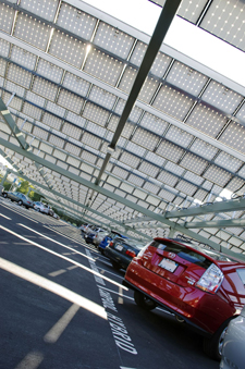 Largest Solar Parking Structures Provide MW Electricity
