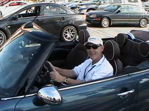 John Addison test drives the MINI Cooper Convertible