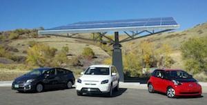 3 Toyota EV at NREL Solar