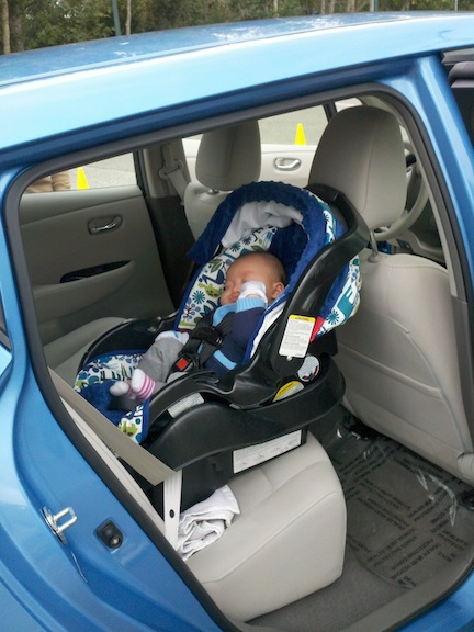 Nissan Leaf With Baby Car Seat Review Leaf Trunk Space