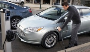 Ford and SunPower Solar Charging Electric Cars