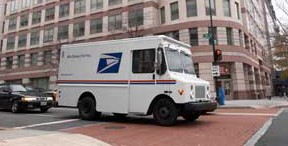 USPS,postal service,delivery truck,delivery truck