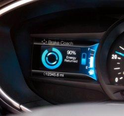 2017 Ford Fusion Energi, gauges, Brake Coach