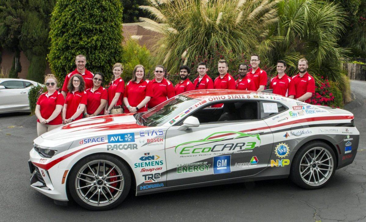 EcoCAR3 winning Camaro from Ohio State University
