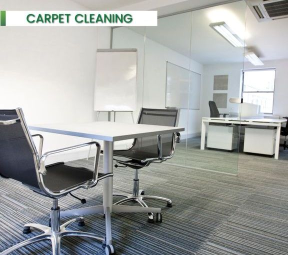 carpet cleaning in an office