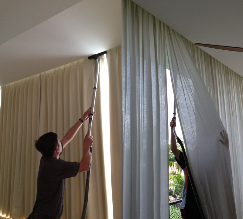 cleaning curtains without dry cleaning