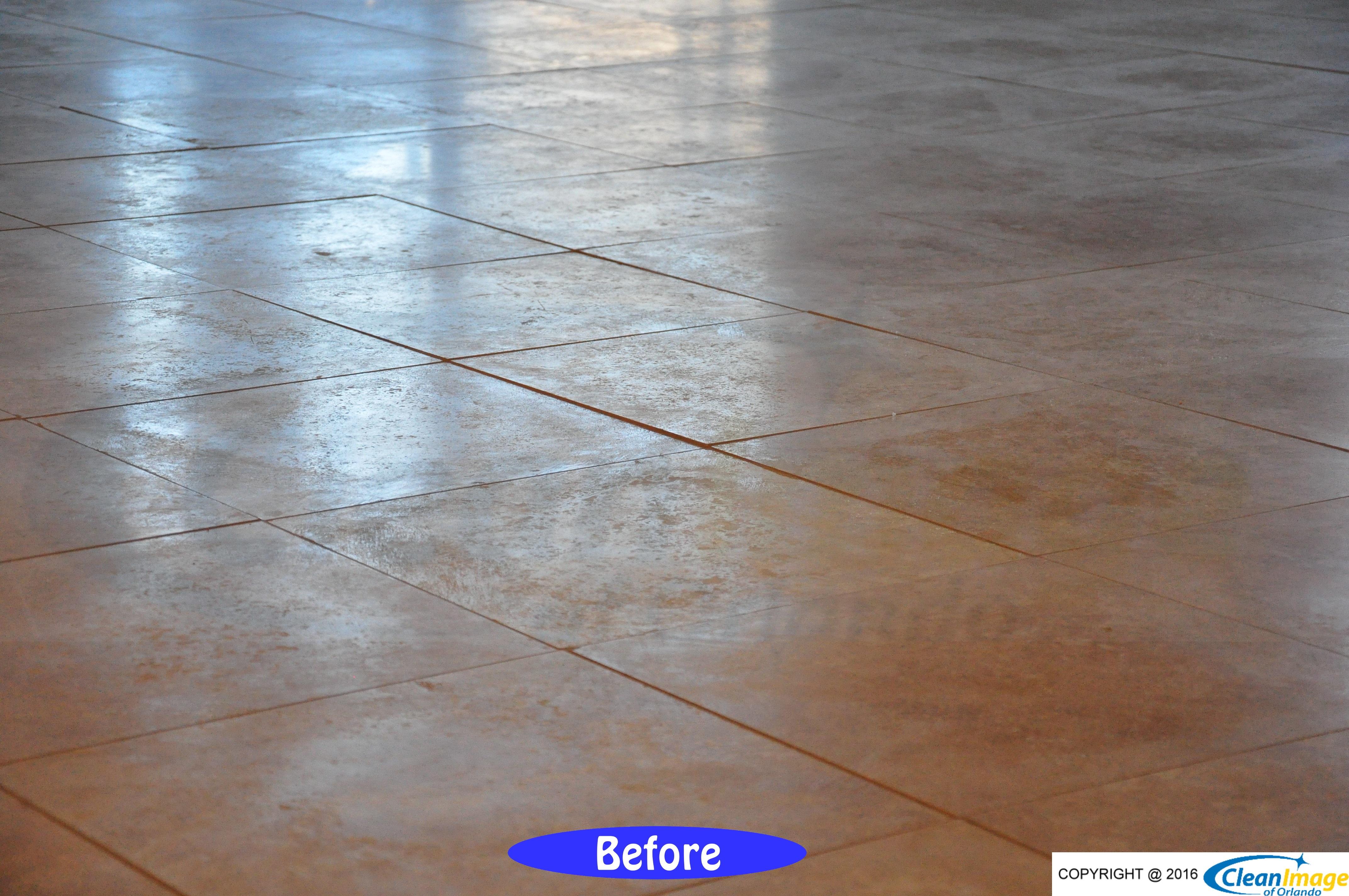 grinding a travertine floor flat